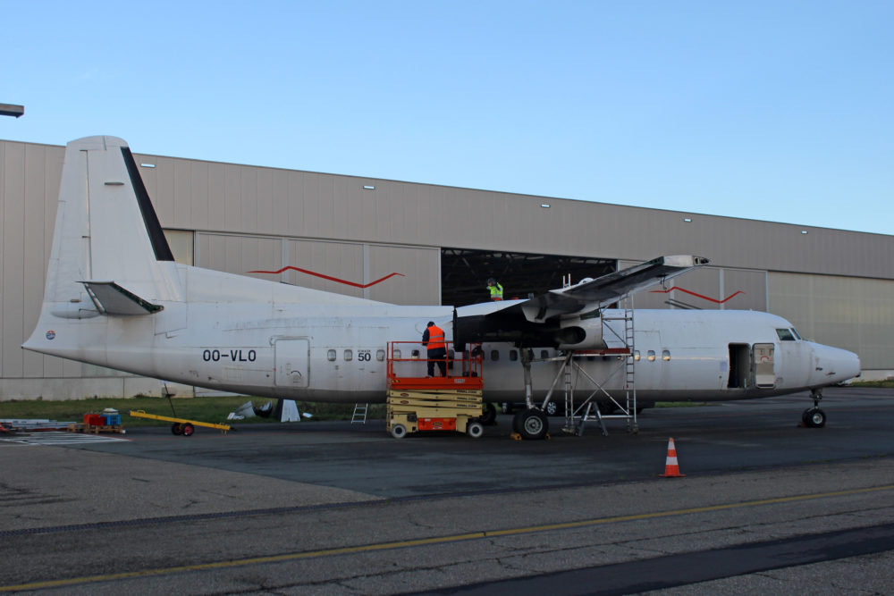 Fokker 50 To Be Dismantled In Antwerp (BE)