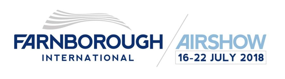 Farnborough International Airshow Trade Logo With Date Landscape White BG 01